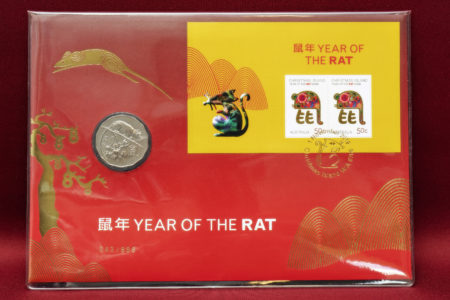2020 Year of the Rat - 50c Limited Edition Gold Foil Oversized PNC